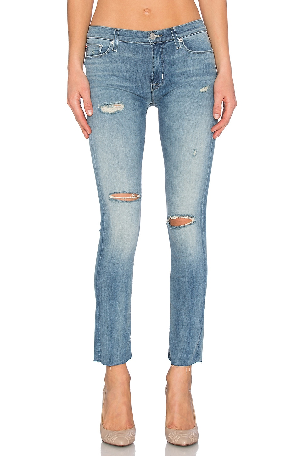 Shine Mid Rise Ankle Skinny at Revolve Clothing