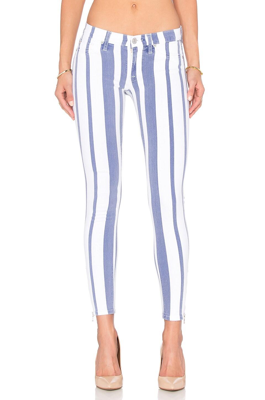 Hudson Jeans Krista Ankle Zip Super Skinny in Steamer
