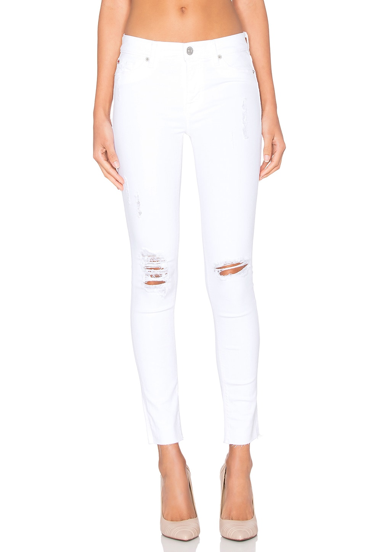 Hudson Jeans Nico Dreamer in White Destressed