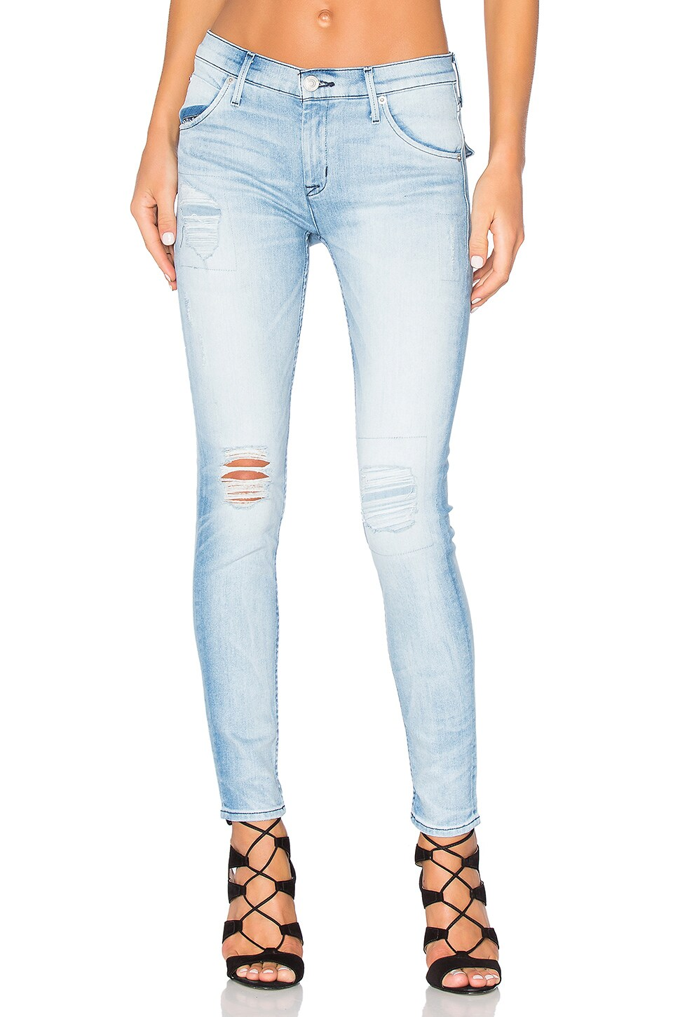 Hudson Jeans Lilly Mid Rise Ankle Skinny in Rialto