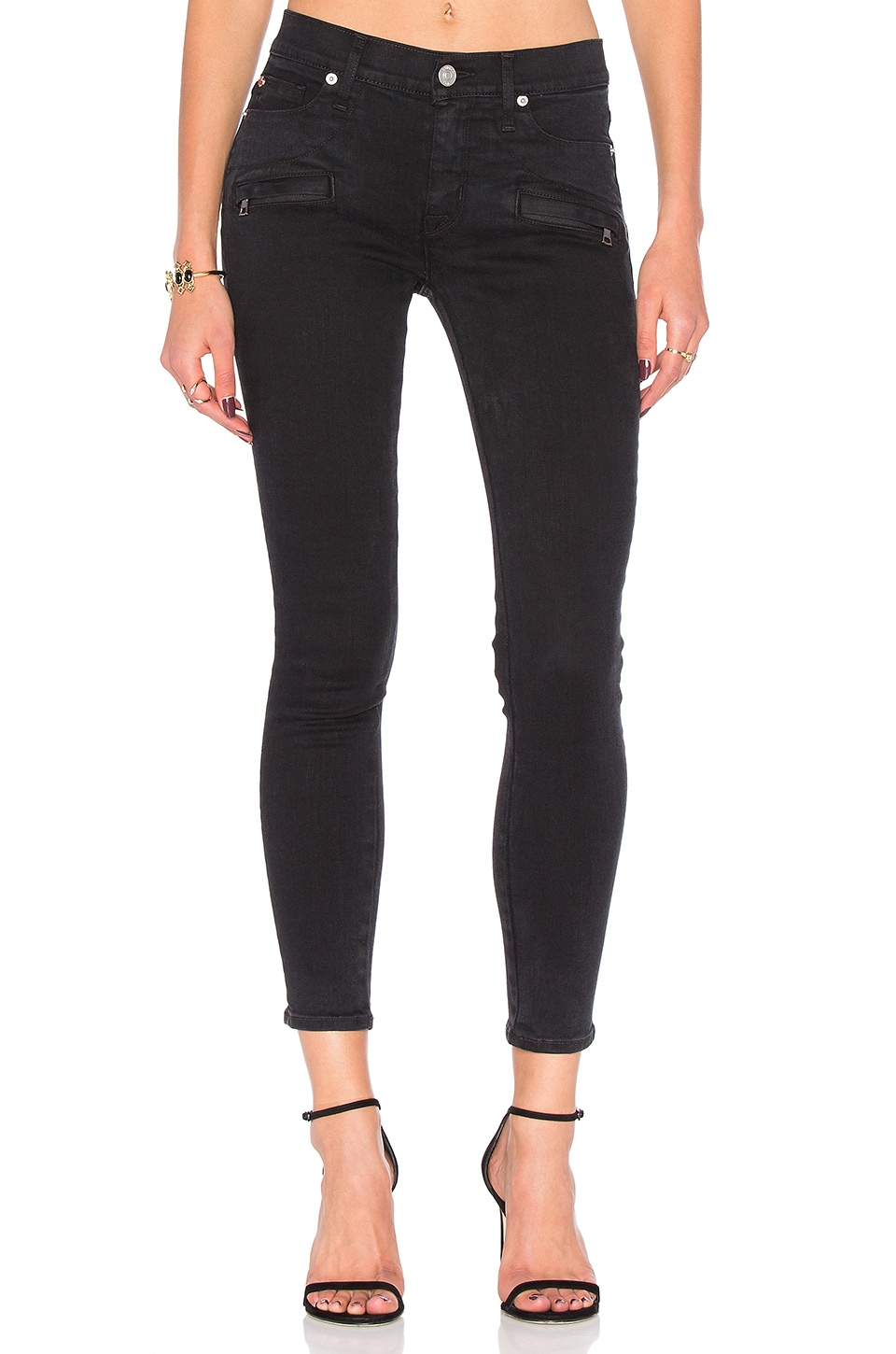 Roe Mid Rise Ankle Super Skinny by Hudson Jeans