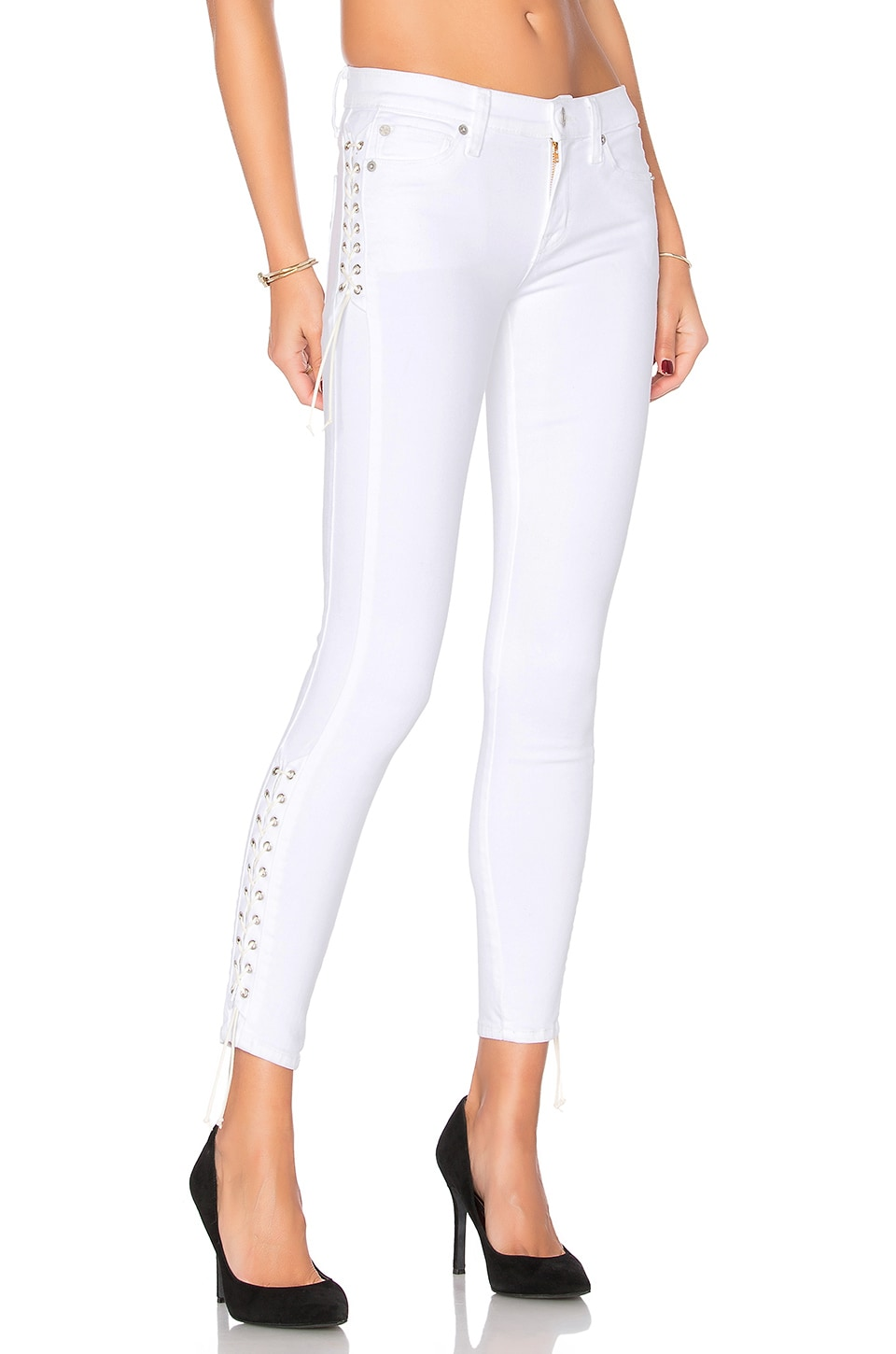 Hudson Jeans Suki Ankle Super Skinny in White