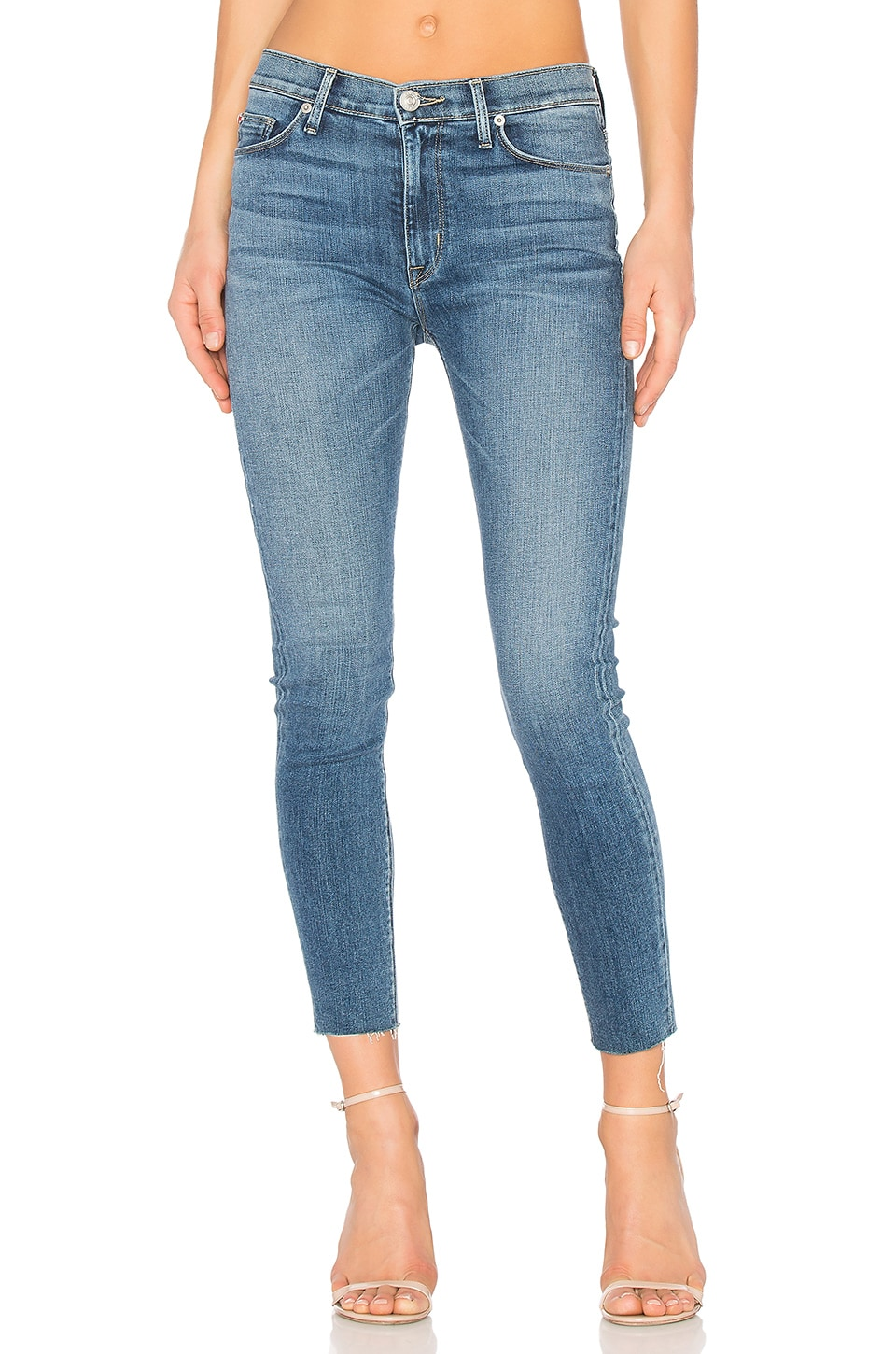 Barbara Frayed Hem Super Skinny by Hudson Jeans