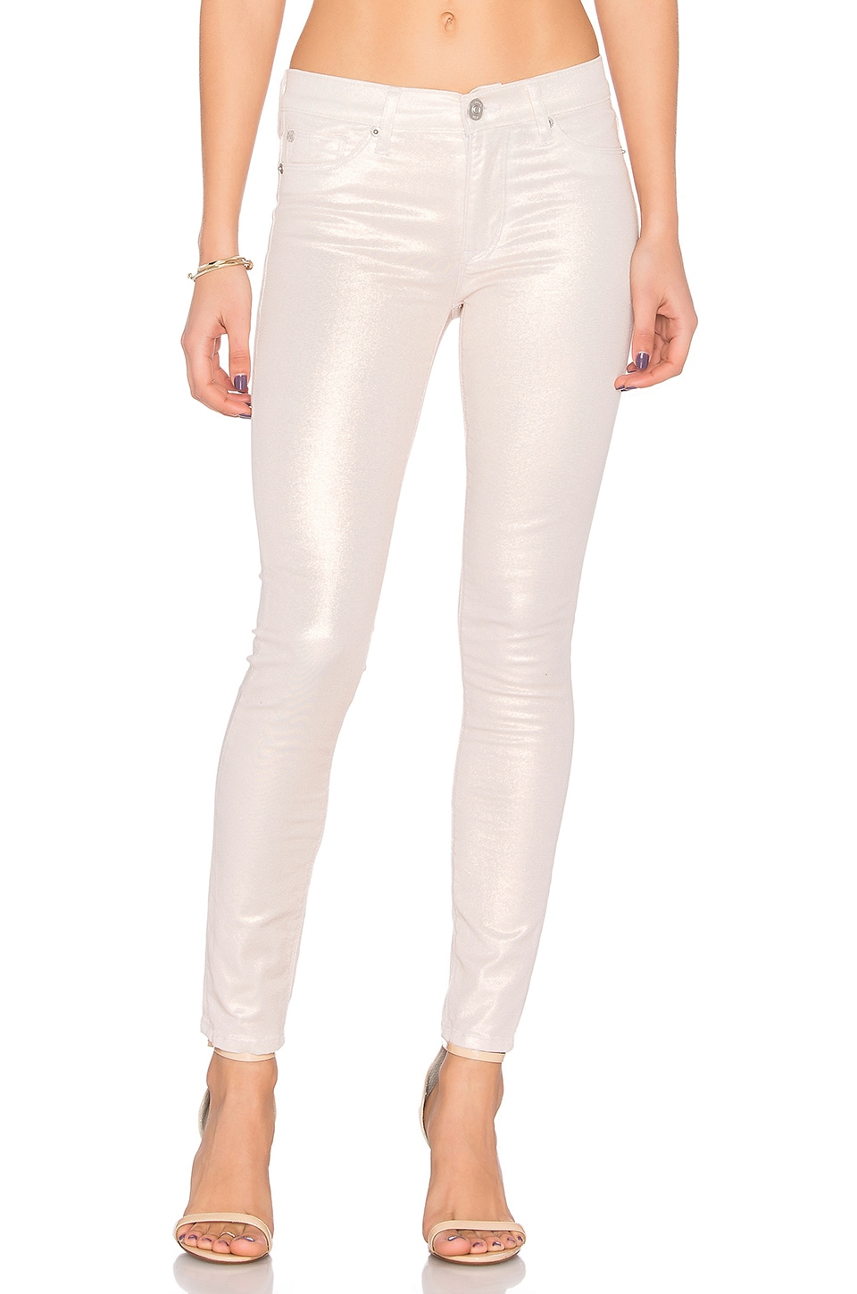 Hudson Jeans Nico Midrise Skinny in Metallic Sunset