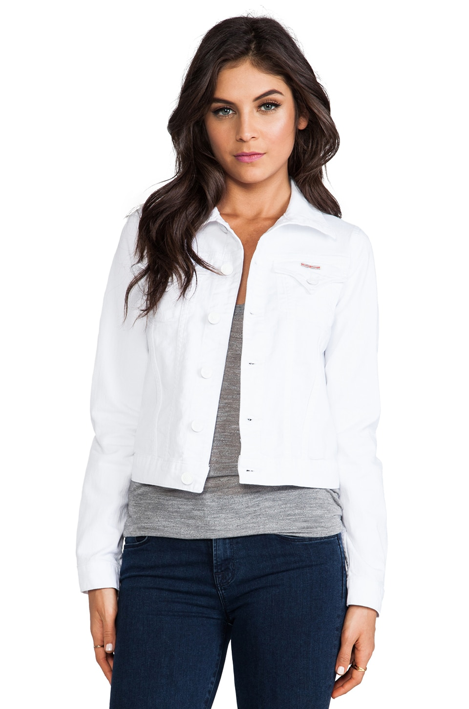 Hudson Jeans Signature Jean Jacket in White