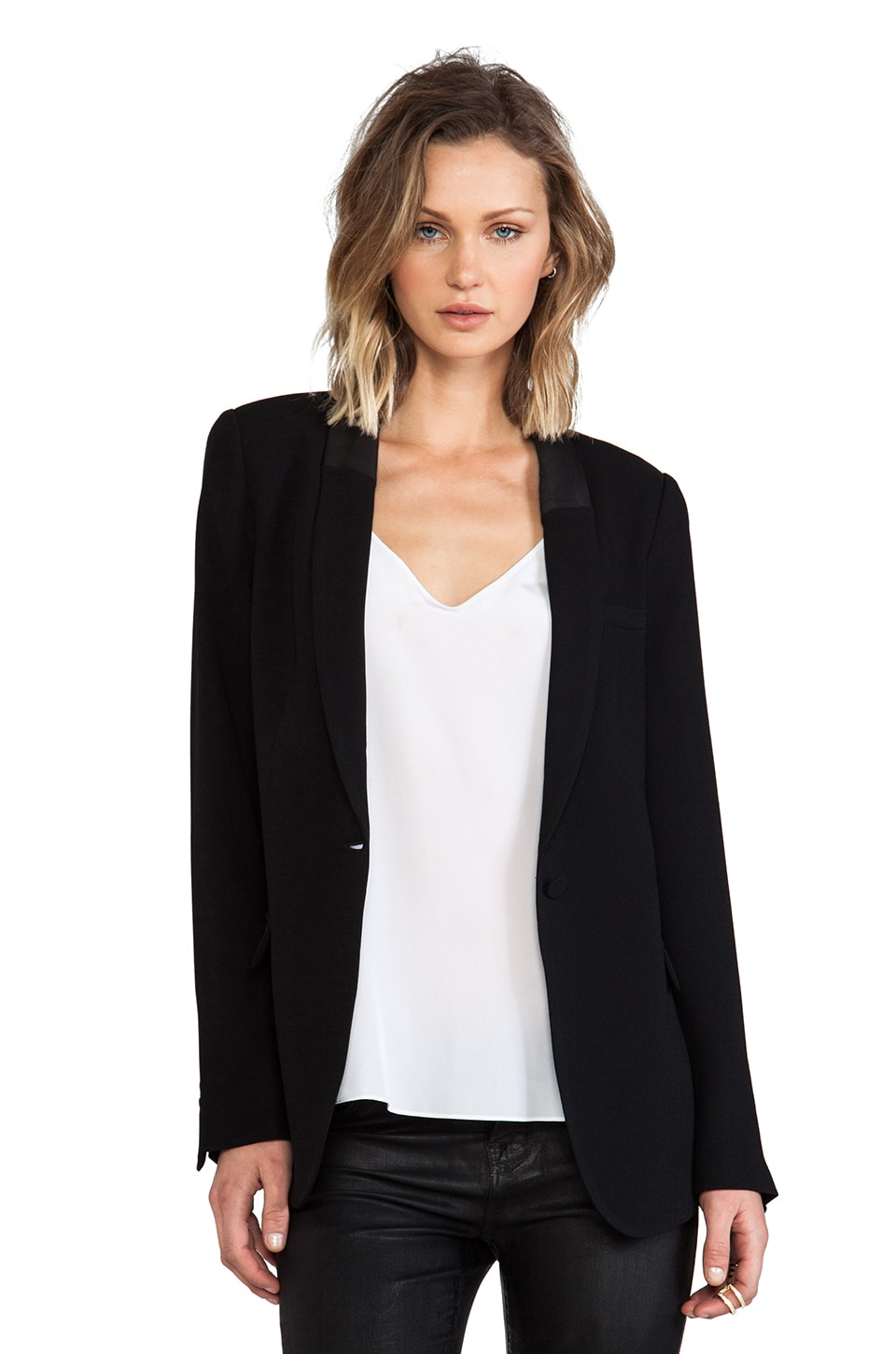 Hudson Jeans Blazer NO. 9 in Raw Black
