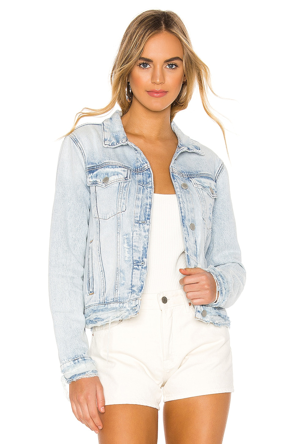 Hudson Jeans Classic Trucker Jacket in Save Tonight