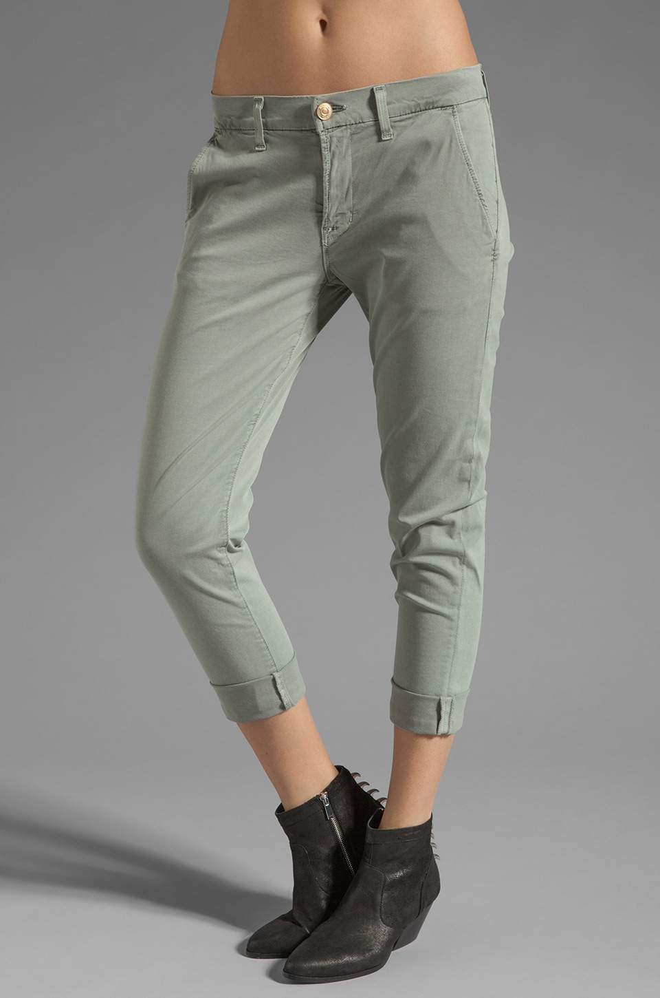 Hudson Jeans Jamie Slim Chino in Military Green