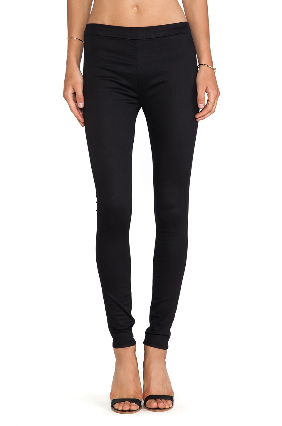 Hudson Jeans Evelyn High Rise Super Skinny in Black Knight