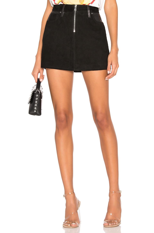 Hudson Jeans Leather Skirt in Black