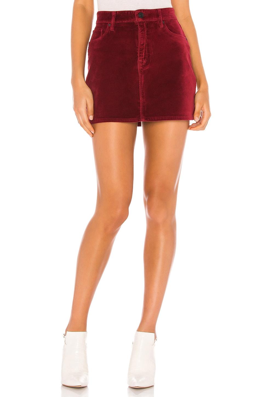 Hudson Jeans The Viper Mini Skirt in Oxblood