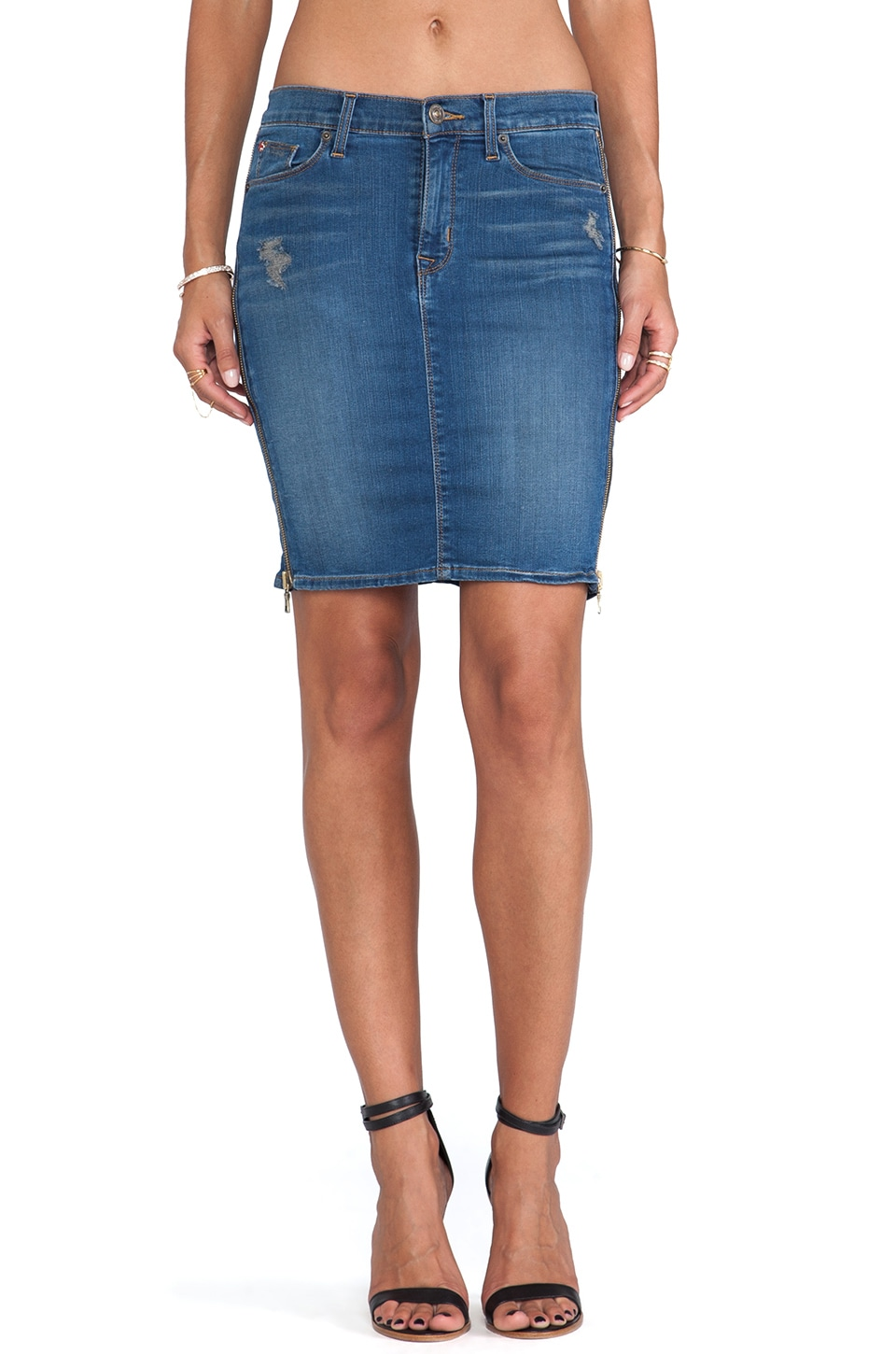 Hudson Jeans Marianne Pencil Skirt in Foxey