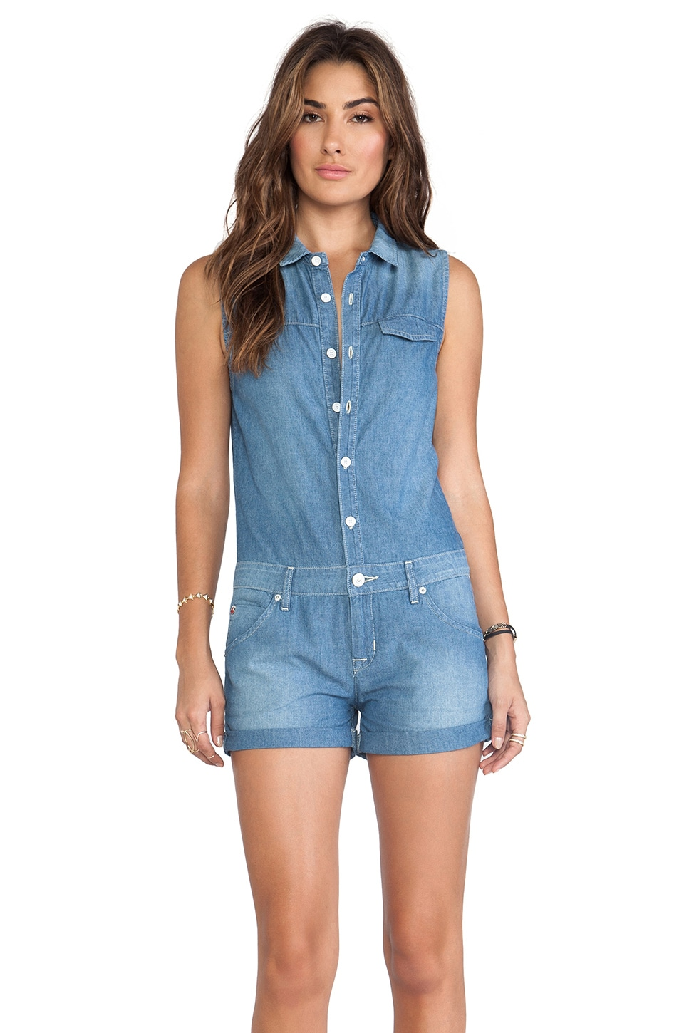 Hudson Jeans Harmony Romper in Borderline