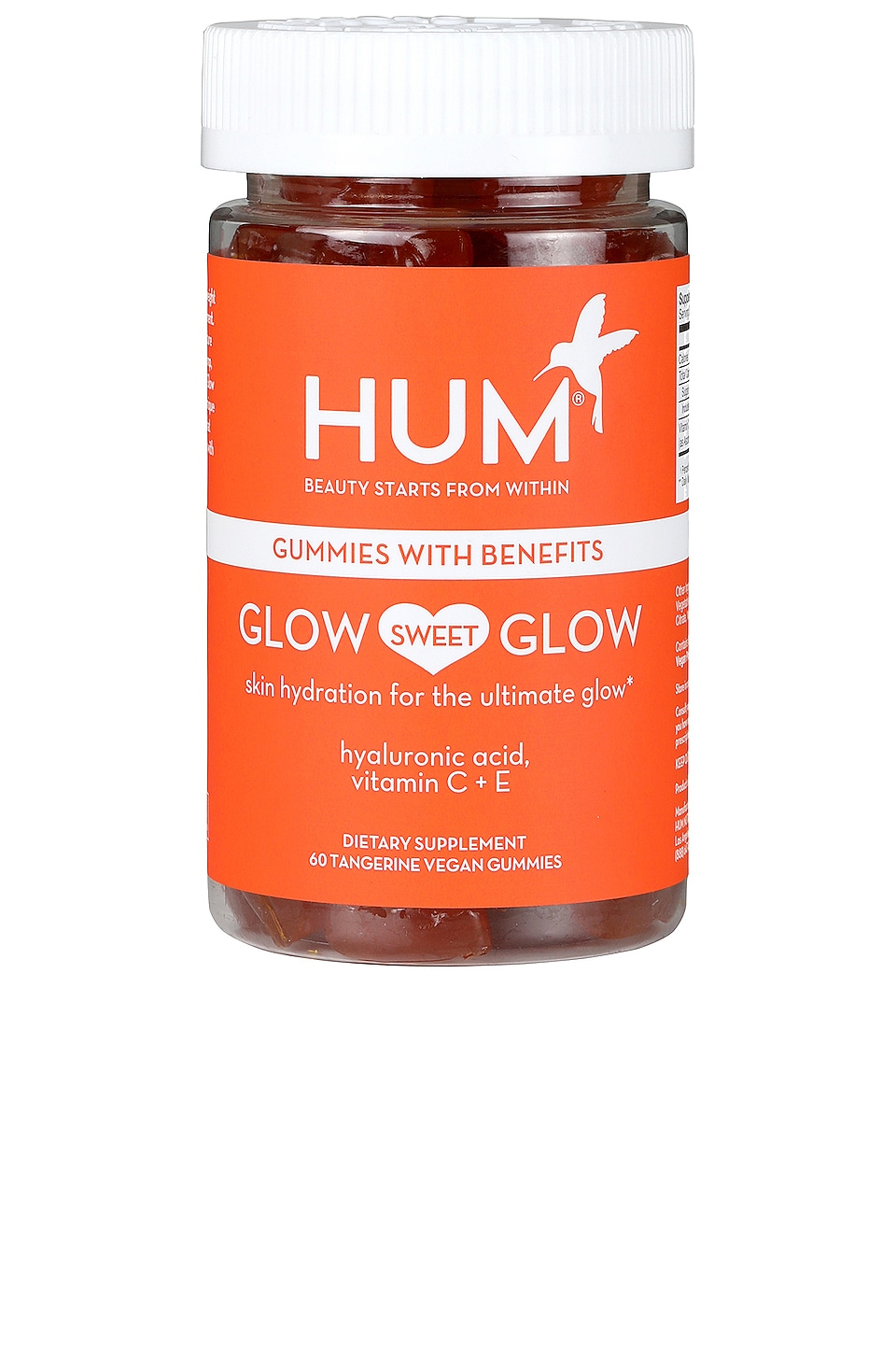 HUM Nutrition Glow Sweet Glow Skin Hydration Vegan Gummies