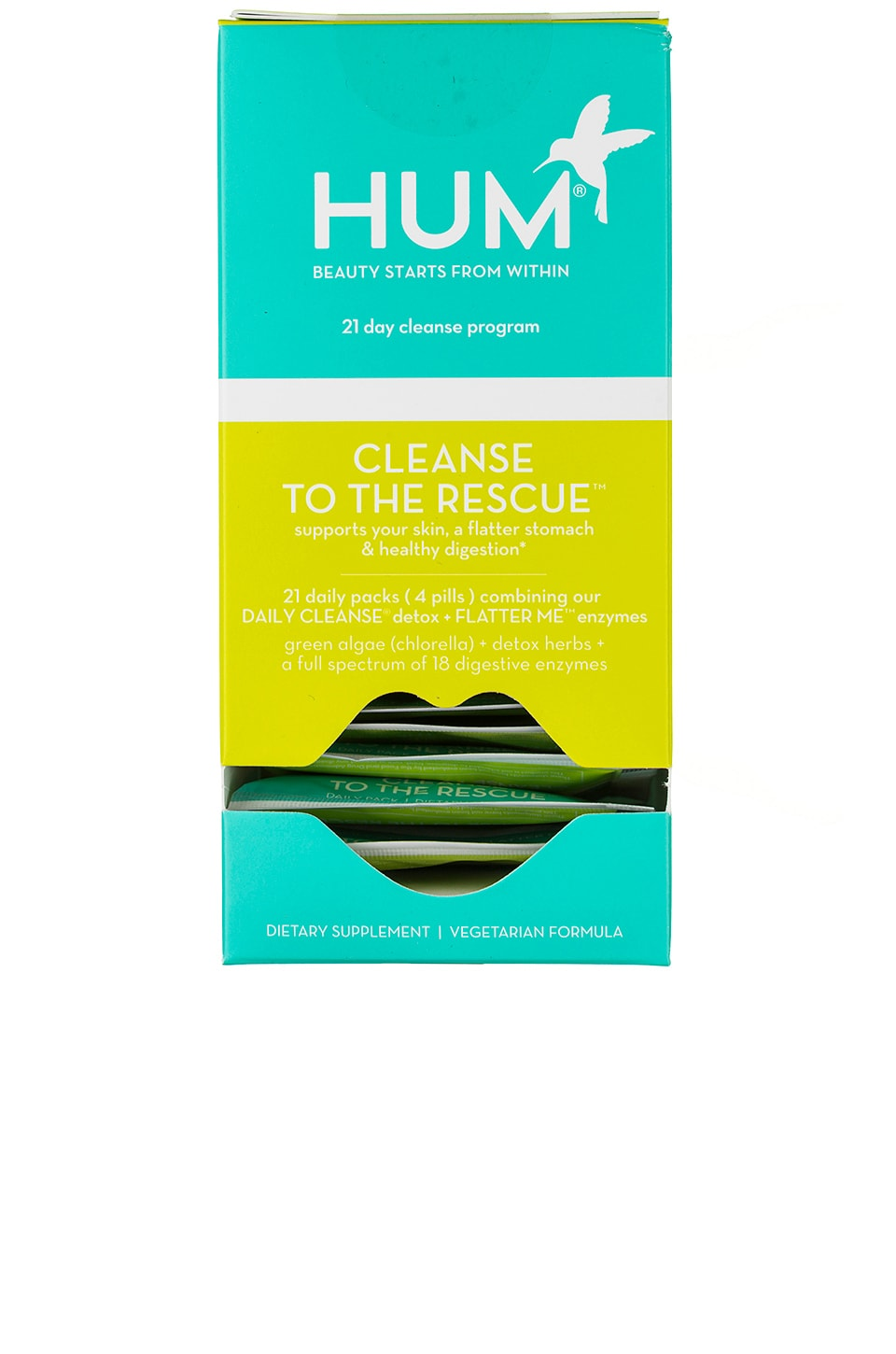 HUM Nutrition COMPLEMENTO CLEANSE TO THE RESCUE