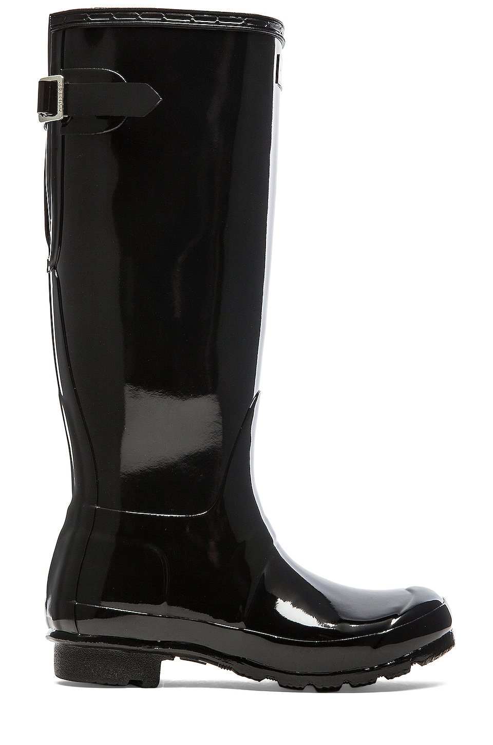 Original Back Adjustable Gloss Rain Boot by Hunter