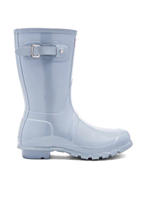 Hunter Original Short Gloss Rain Boot in Porcelain Blue