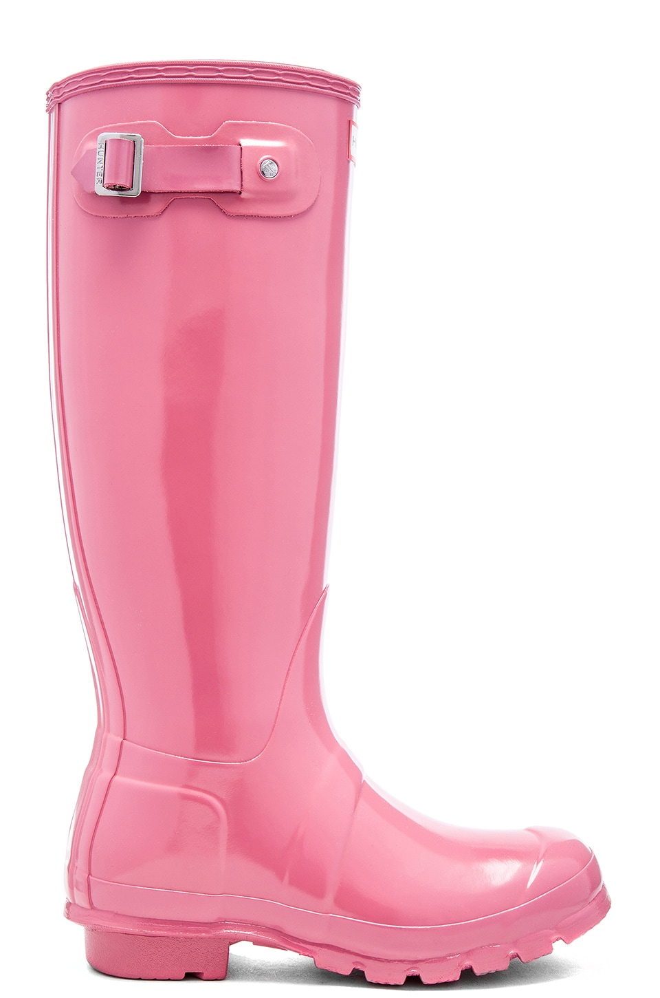 Hunter Original Tall Gloss Rain Boot in Rhodonite Pink