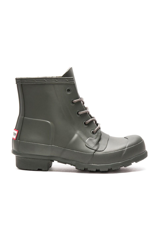 b52a7957272 Hunter Original Lace Up Rain Boot in Dark Olive | REVOLVE