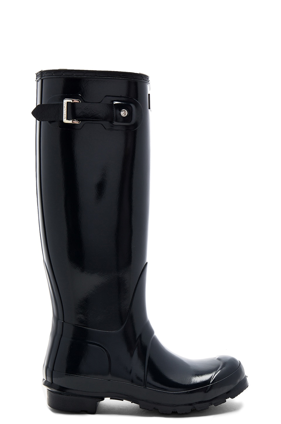Hunter Original Tall Gloss Boot in Navy