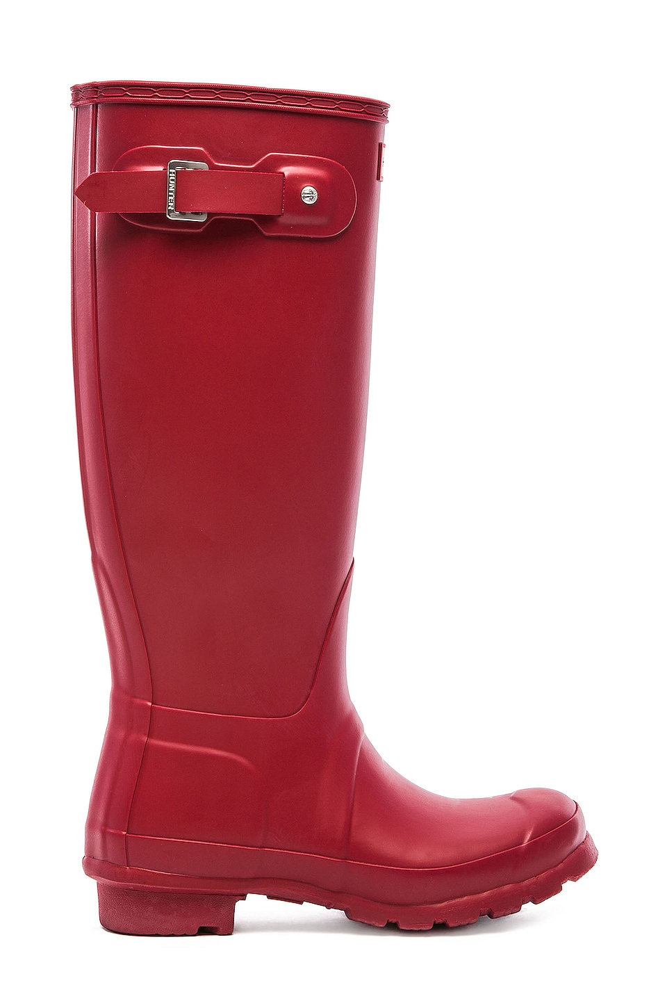 Hunter Original Tall Rain Boot in Military Red
