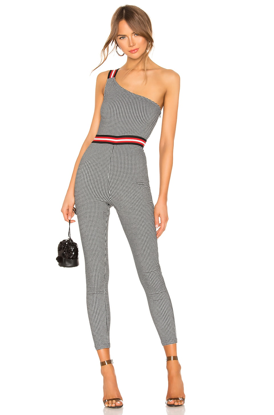 h:ours Skylar Jumpsuit in Black & White