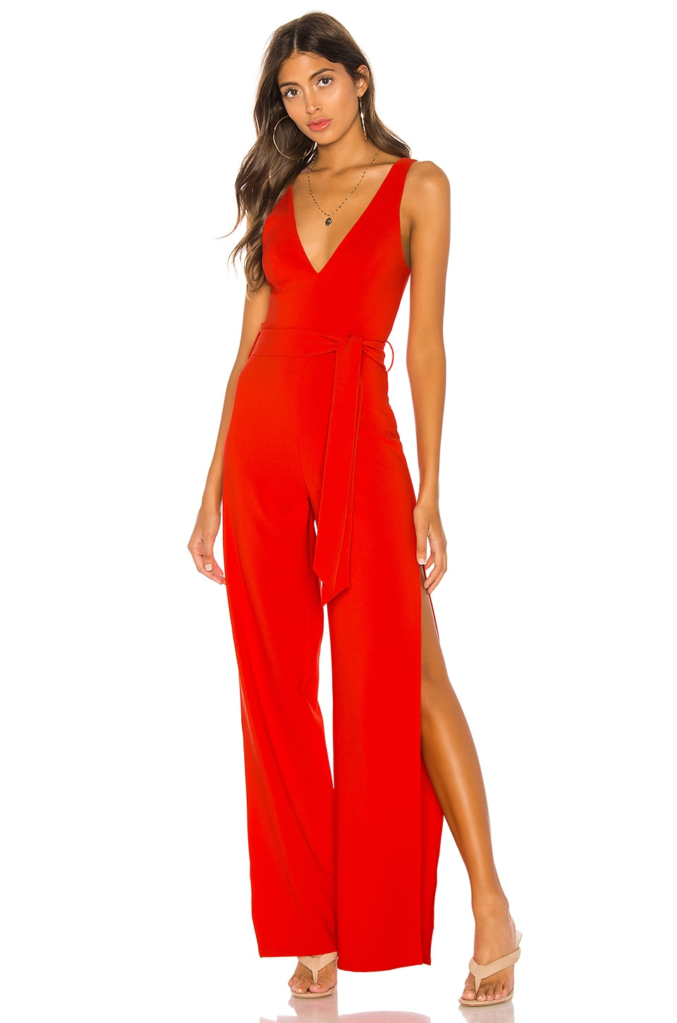h:ours Elissa Jumpsuit in Red