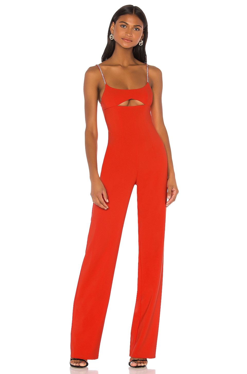 h:ours Adeline Jumpsuit in Fiery Red