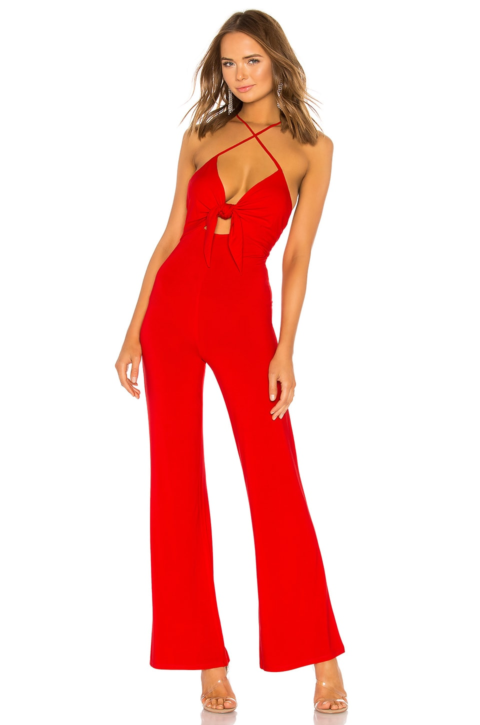 h:ours Vale Jumpsuit in Lava Red