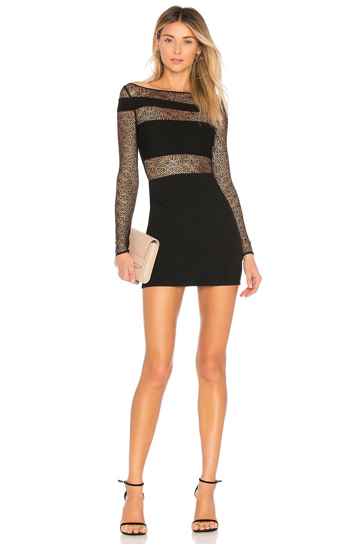 h:ours Hattie Dress in Black