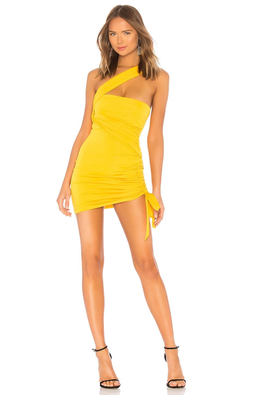 h:ours Solange Dress in Lemon