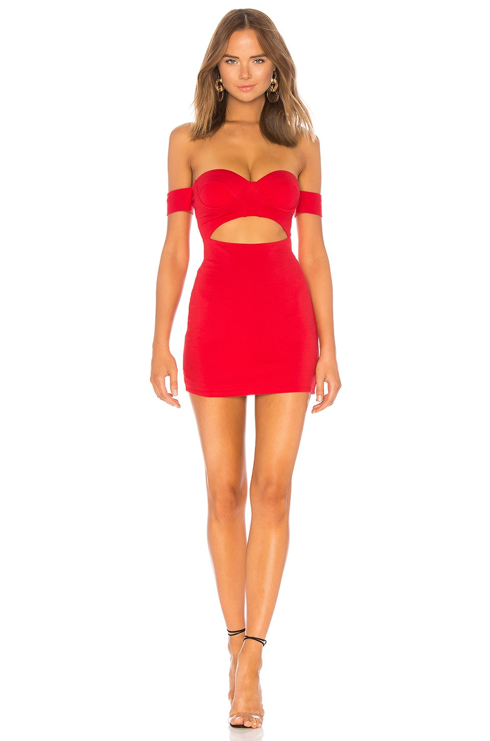 h:ours Raph Dress in Crimson
