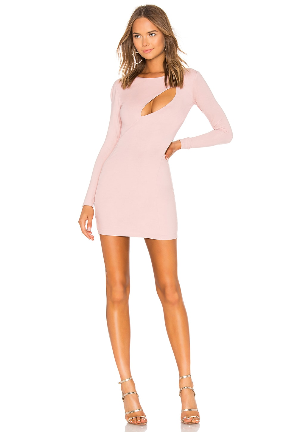 h:ours Taylor Cut Out Dress in Coco Rose