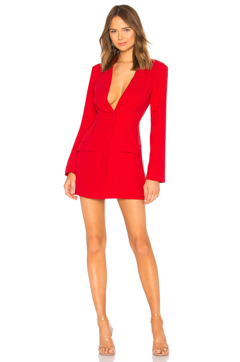 h:ours x Yovanna Ventura Amanda Blazer Mini Dress in Red