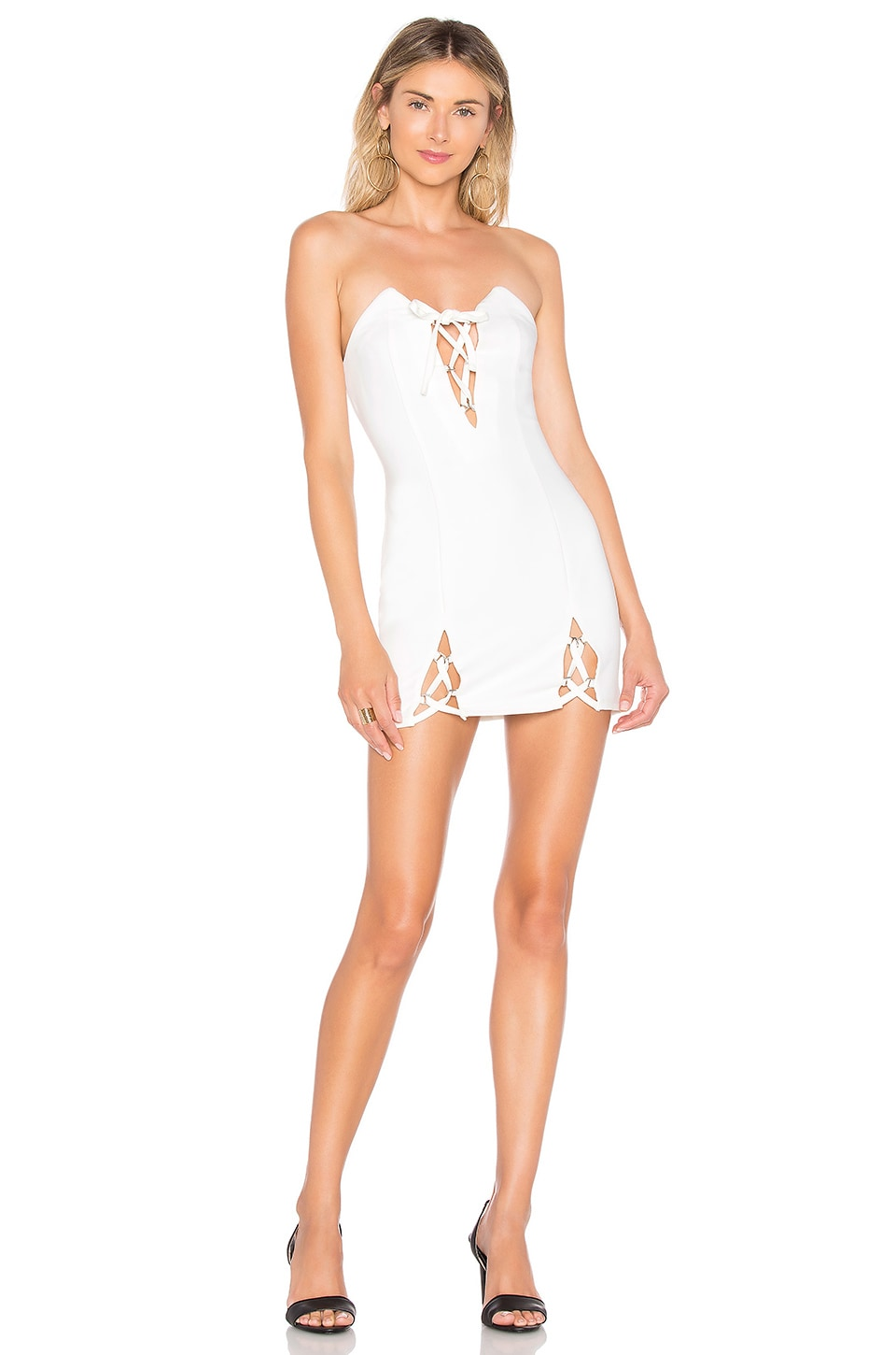 h:ours Haider Mini Dress in White