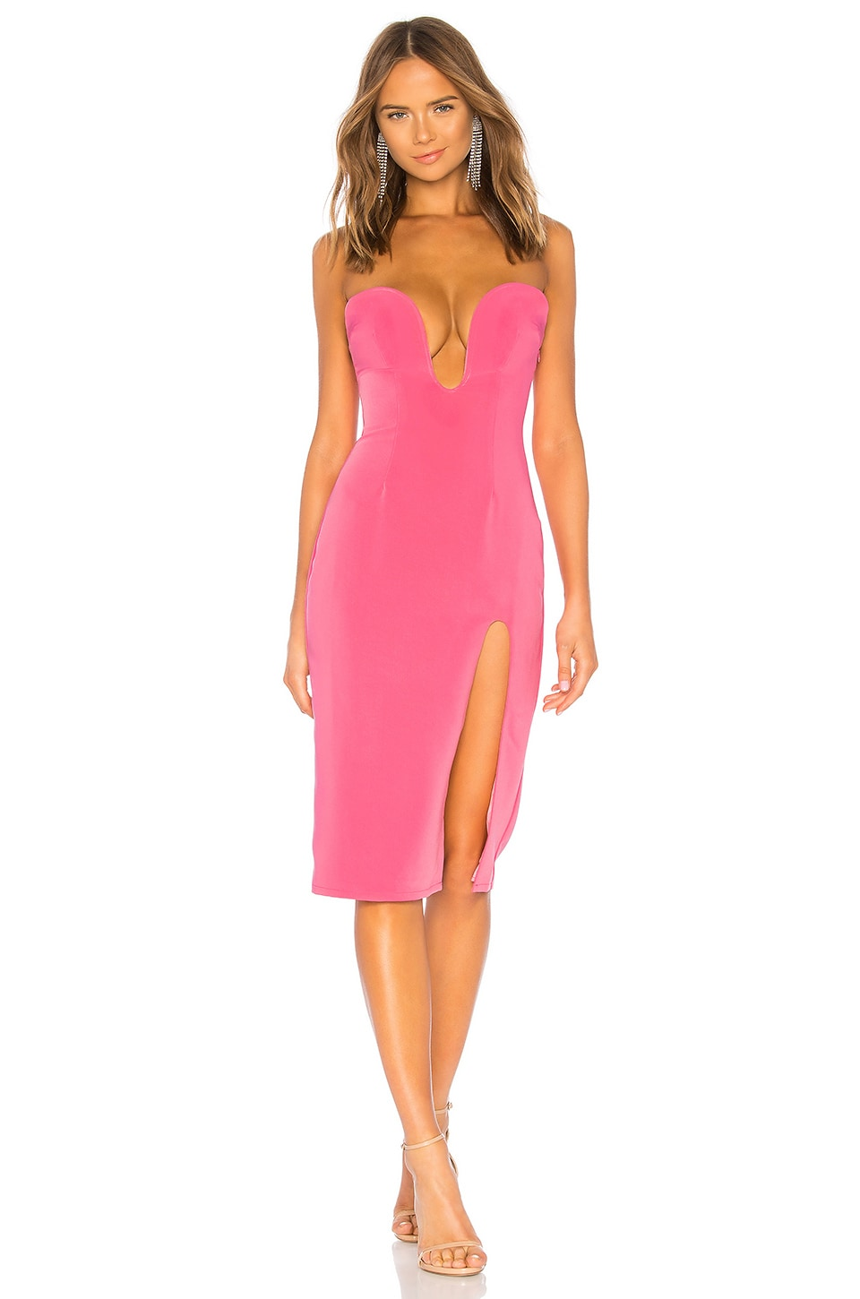h:ours Lazaro Midi Dress in Pink Candy