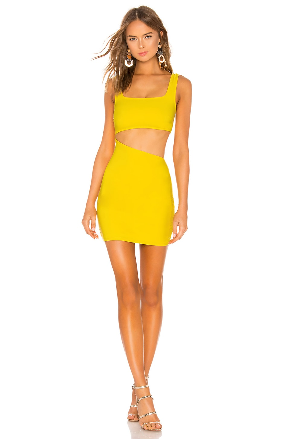 h:ours Tarantino Dress in Yellow