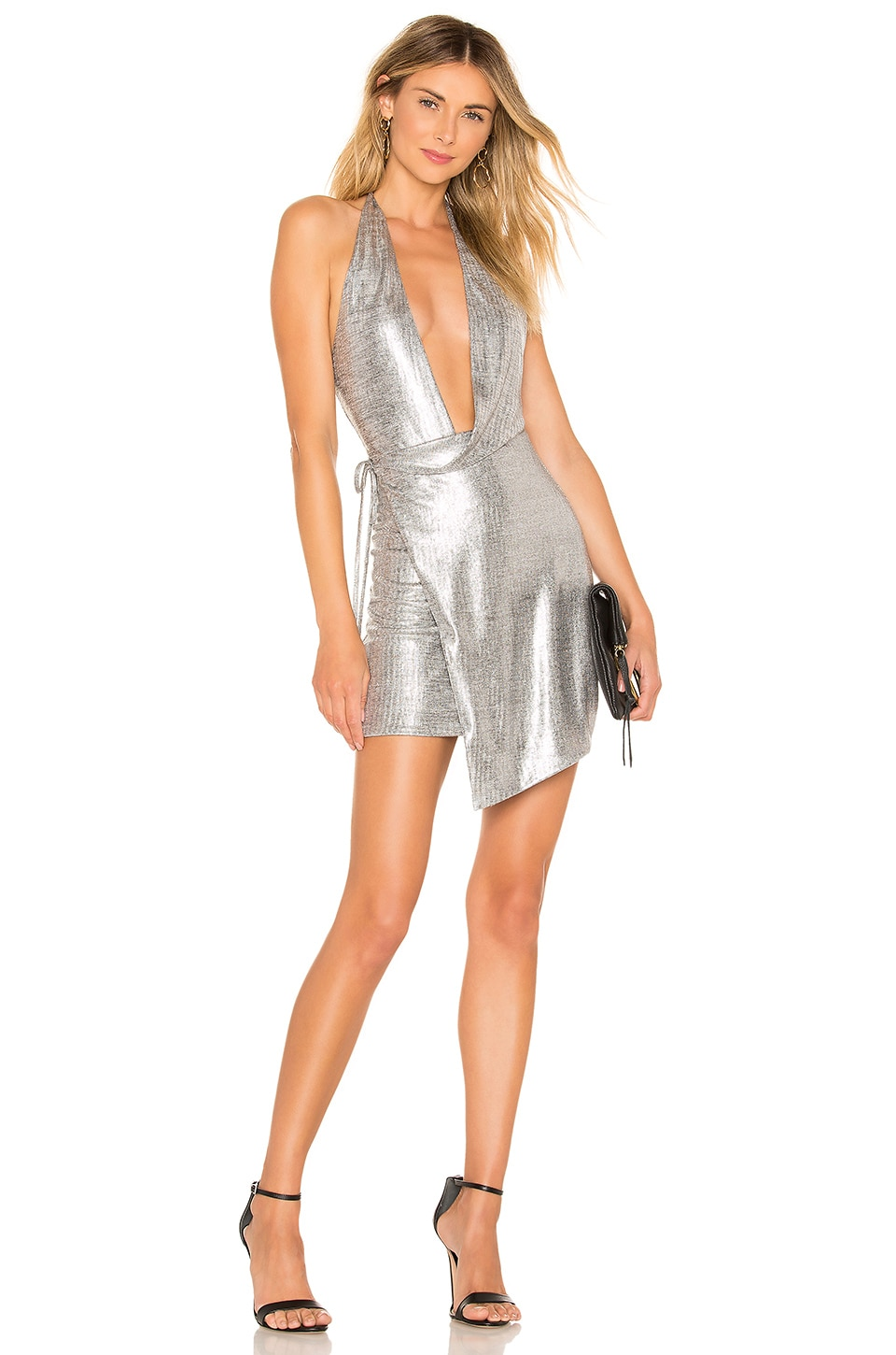 h:ours Omari Dress in Silver