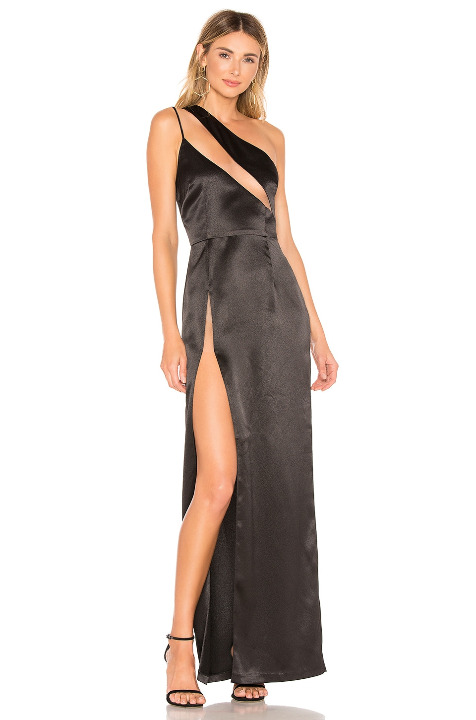 h:ours Fabiana Gown in Black Noir