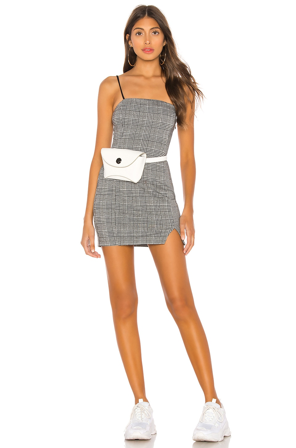 h:ours Clemente Mini Dress in Gray