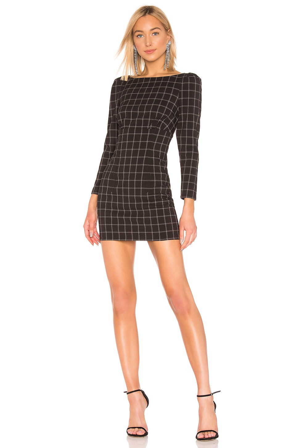 h:ours Shae Dress in Black & White