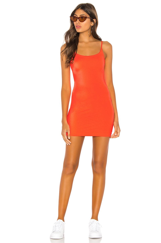 h:ours Montrose Mini Dress in Neon Orange
