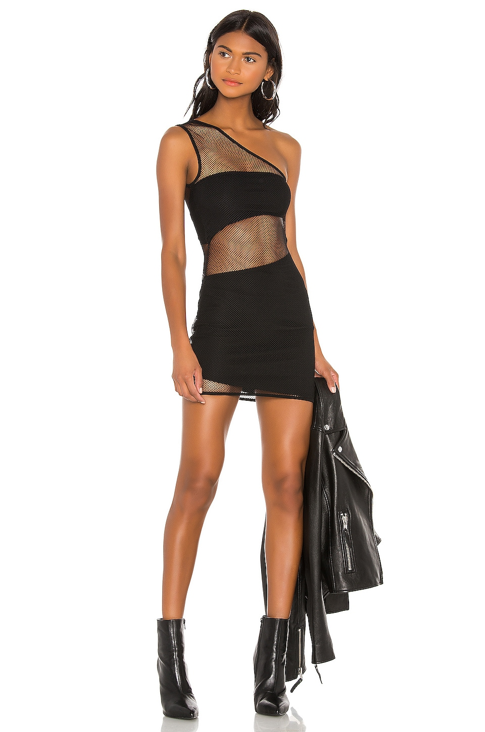 h:ours Sherwood Mini Dress in Black