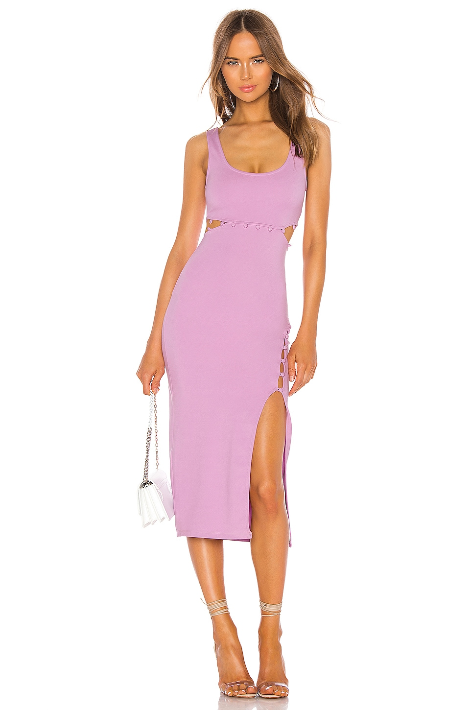 h:ours Samiah Dress in Lilac
