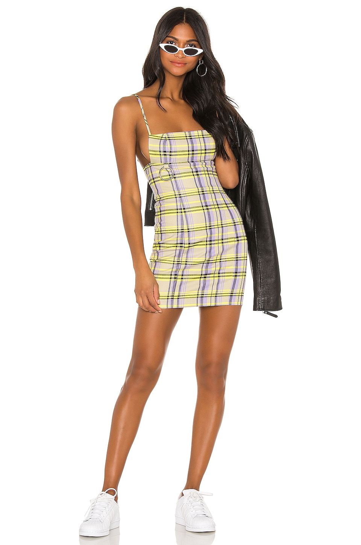 h:ours Cardi Mini Dress in Lavender & Green
