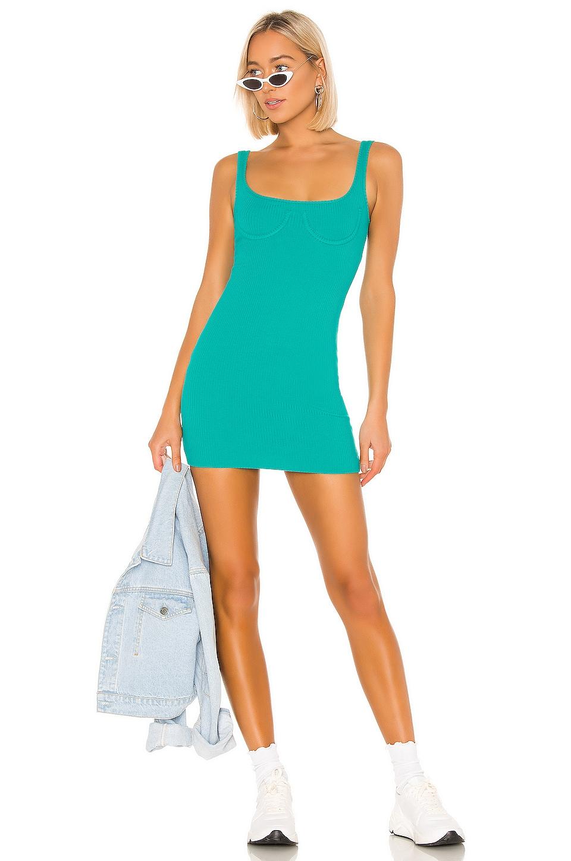 h:ours Rita Mini Dress in Teal