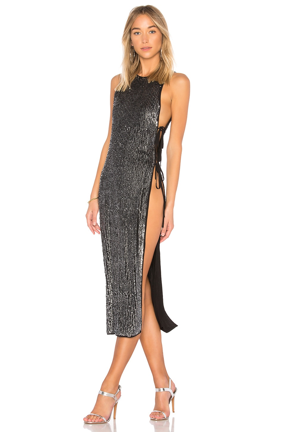 h:ours x REVOLVE Ruby Maxi in Black