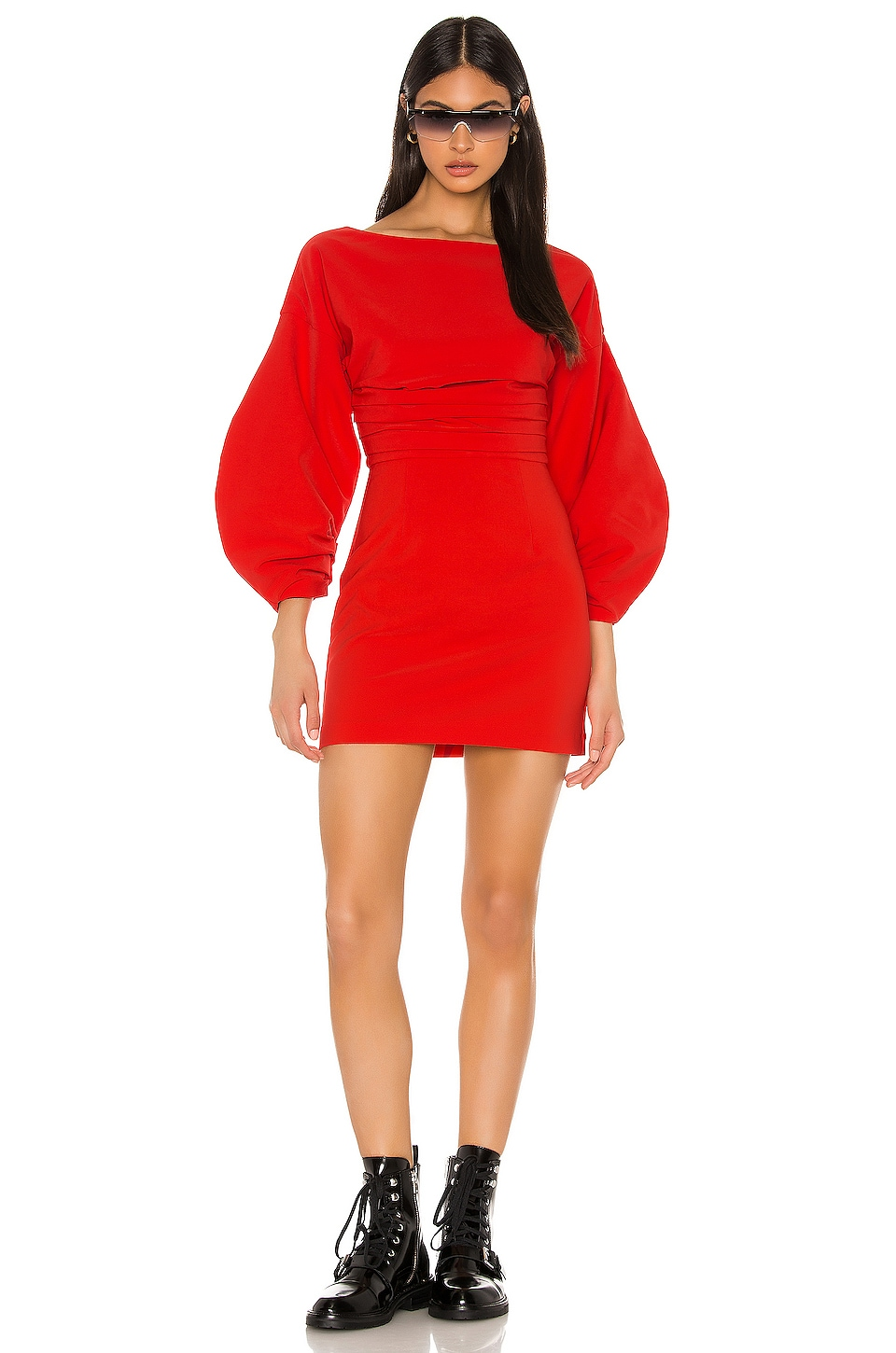 h:ours Cristiano Mini Dress in Fiery Red