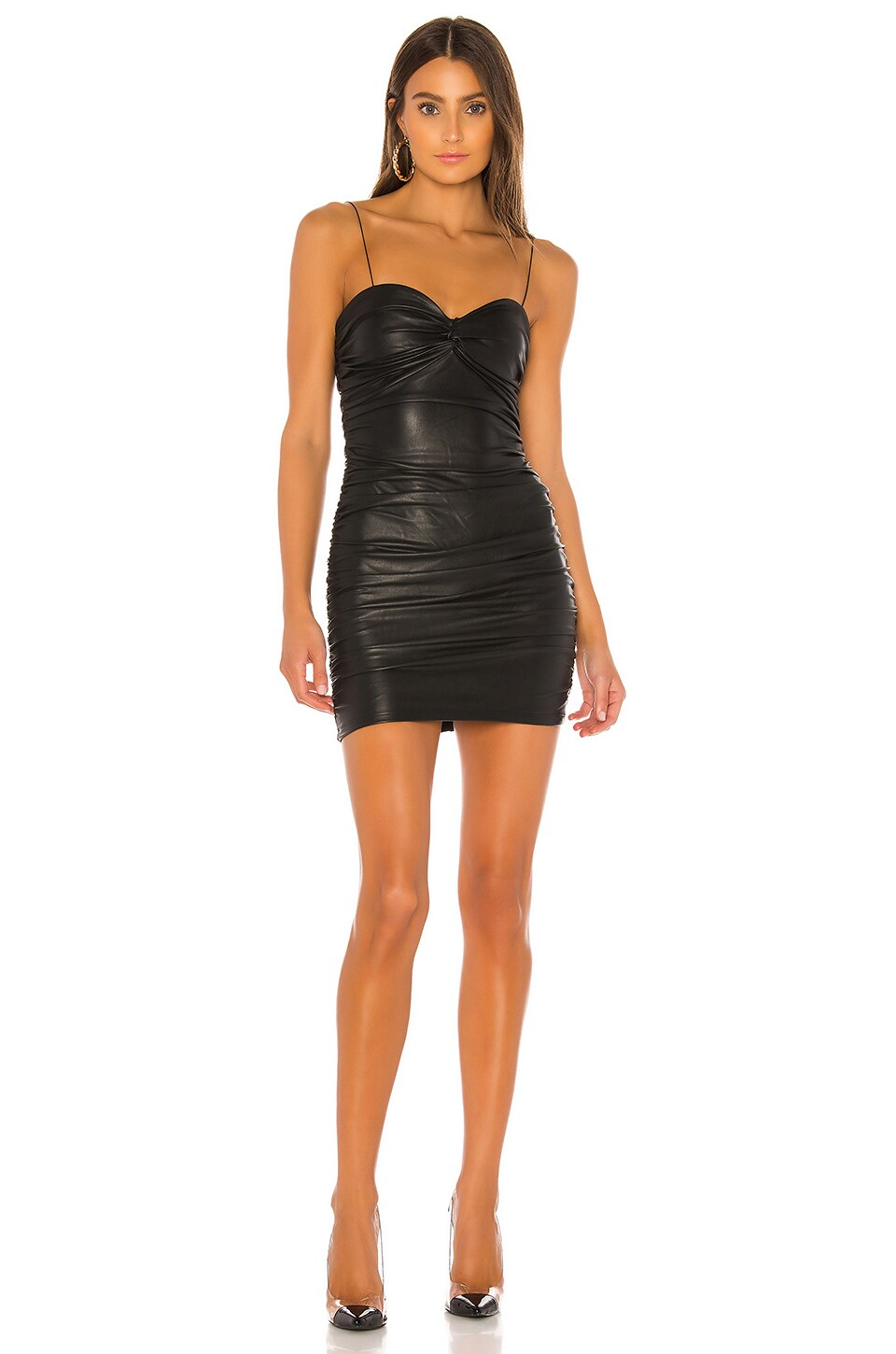 h:ours Masa Mini Dress in Black