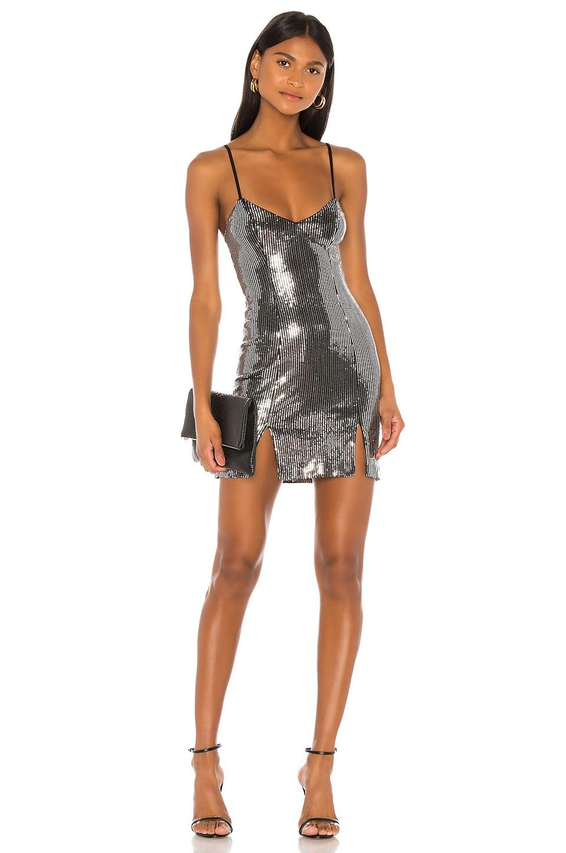 h:ours Mai Mini Dress in Silver
